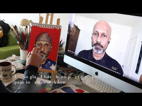 Portrait 21/100: Timelapse Video Painting Akram Khan For #myPAOTW
