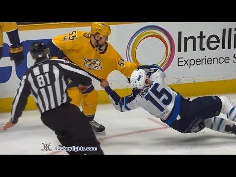 Matt Hendricks vs Cody McLeod Nov 20, 2017