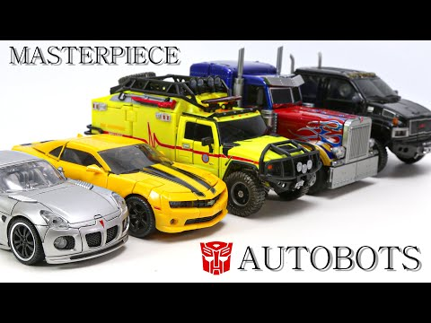 Transformers Masterpiece Autobot Optimus Prime Bumblebee Jazz Ratchet Ironhide Vehicle Robot Toys