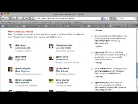 Using Twitter and Blogbridge to track Articulate news, updates and tutorials