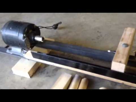 DIY Wood Lathe - YouTube