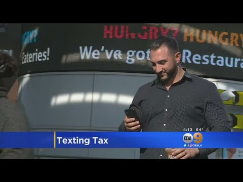 California Considering Taxing Your Text Messages