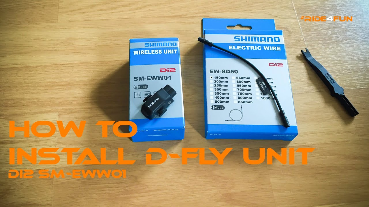 How To Install And Setup Shimano Di2 D Fly Unit Sm Eww01