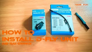 How to install and setup Shimano Di2 D-Fly Unit SM-EWW01