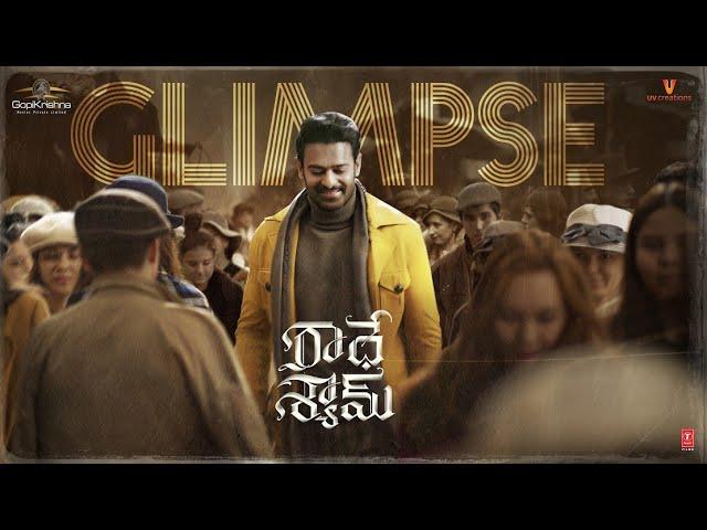 Radhe Shyam Telugu Glimpse | Prabhas | Pooja Hegde | Radha Krishna Kumar | Justin Prabhakaran