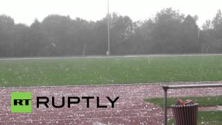 Germany: Giant hail stones batter Lower Saxony