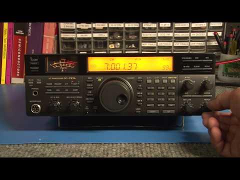 Tuning around on a ICOM IC-737A