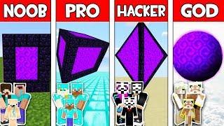Minecraft NOOB vs PRO vs HACKER vs GOD : FAMILY SECRET PORTAL in Minecraft Animation
