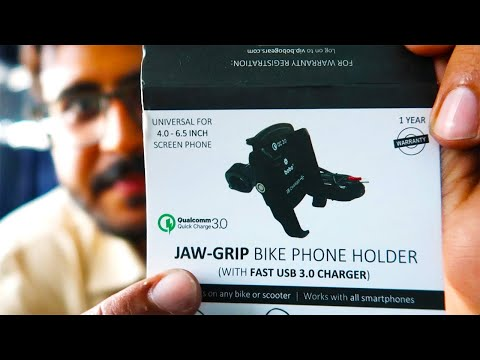 BEST MOTORCYCLE PHONE HOLDER/CHARGER | BOBO REVIEW |