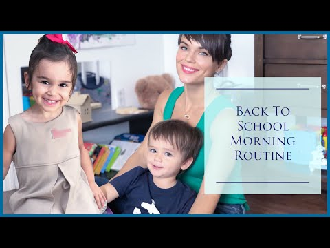 Back To School Morning Routine | Two Kids Stay At Home Mom