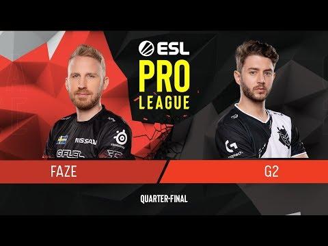 CS:GO - G2 Esports Vs. FaZe [Dust2] Map 2 - Quarter-Final - ESL Pro League Season 9