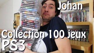 La collection de 100 jeux PS3 de Johan