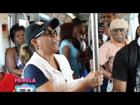 ¡Milly Quezada sorprende a los dominicanos en el Metro de Santo Domingo!