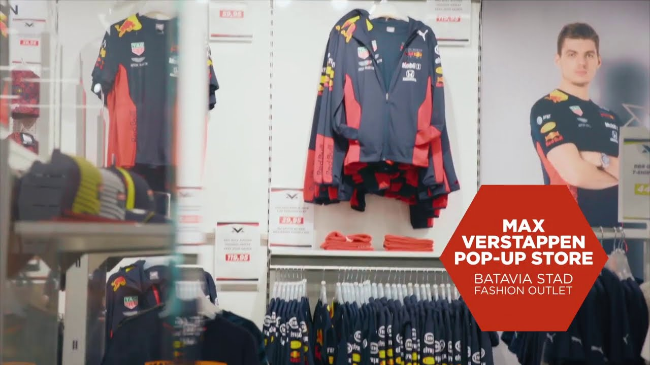 Max Verstappen pop-up store in Batavia Stad Fashion Outlet