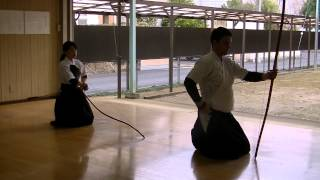 Kyudo (Japanese archery) training 弓道の練習。