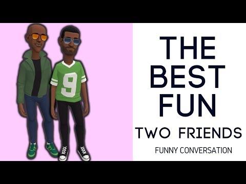 Funny Conversation: Two Friends funny conversation | KaziRa