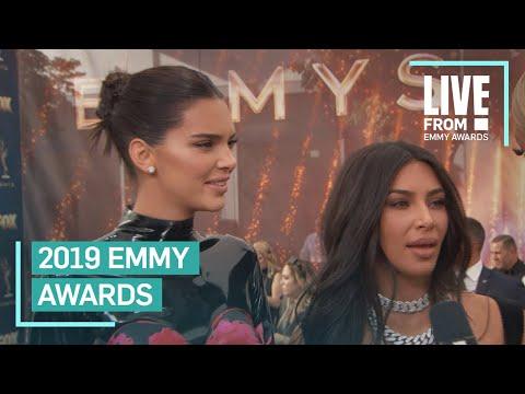 Kim Kardashian & Kendall Jenner Walk 2019 Emmys Red Carpet   E! Red Carpet & Award Shows
