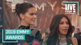 Kim Kardashian & Kendall Jenner Walk 2019 Emmys Red Carpet | E! Red Carpet & Award Shows