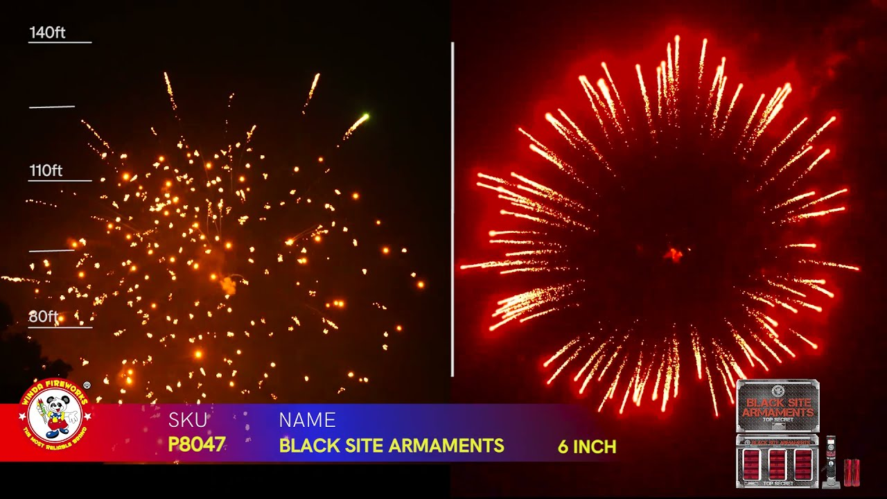 BLACK SITE ARMAMENTS P8047 WINDA FIREWORKS 2022 NEW ITEMS