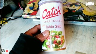 How to open Catch Sprinkler Table Salt !