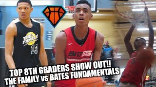 TOP 8TH GRADERS Emoni Bates & Ty Rodgers COMPETE!! | The Family 15u vs 2022 Bates Fundamentals