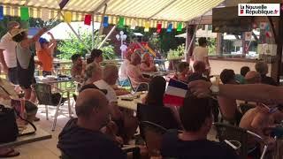 VIDÉO. Loir-et-Cher : les Bleus font chavirer de bonheur les vacanciers du camping