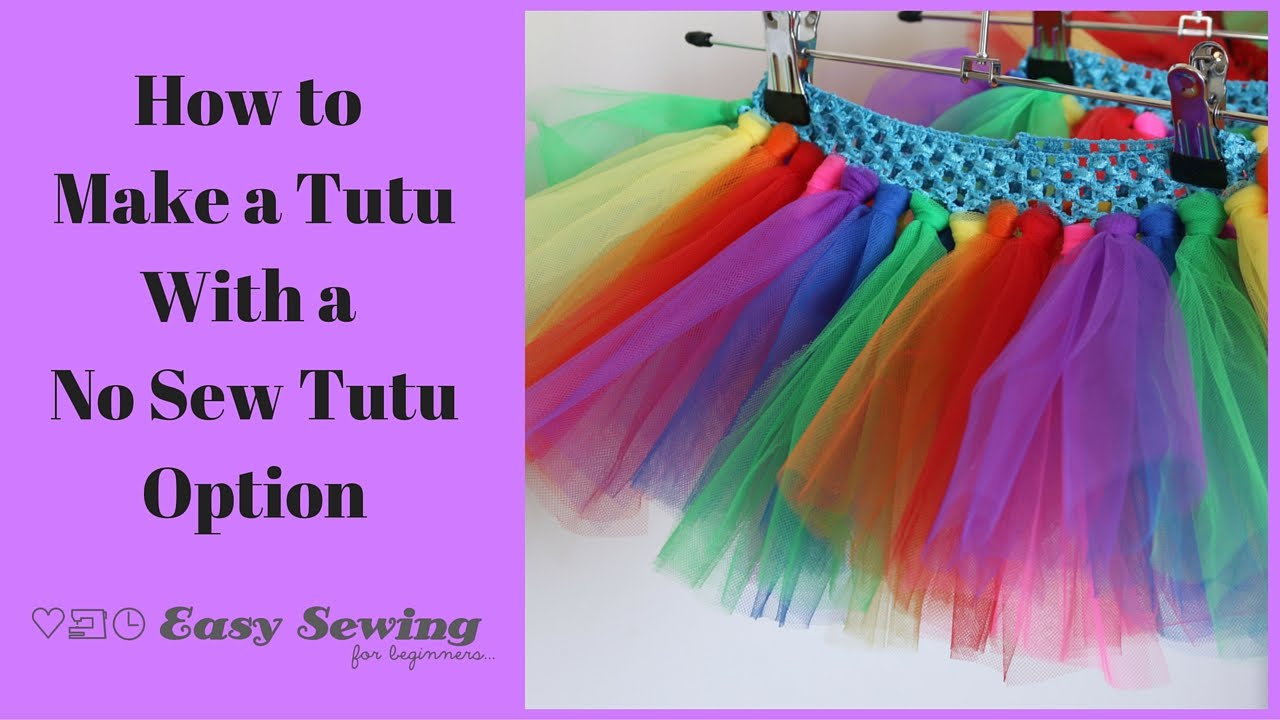 How To Make A Tutu Quick And Easy Youtube