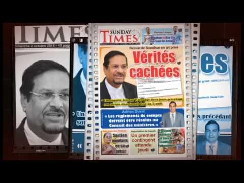 History of SUNDAYTIMES News, by sheikh qalam , Mauritius 2k16