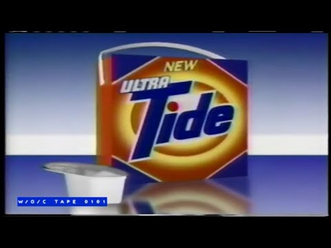 "Tide ""Ultra"" Laundry Detergent Commercial Compilation - 1990"