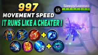 HELCURT MAX 997 MOVEMENT SPEED ! THE FASTEST HERO IN MOBILE LEGENDS ! Mobile Legends Experiment