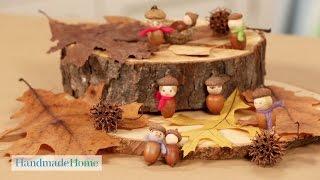 How to Make Seasonal Acorn People - Handmade Home - Martha Stewart