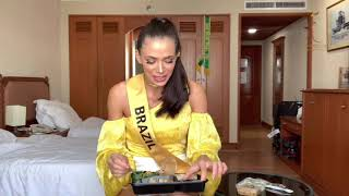 How to eat Thai Food in 2 minutes - MISS GRAND BRAZIL