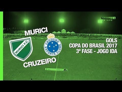 Gols - Murici 0 x 2 Cruzeiro - Copa do Brasil - 08/03/2017