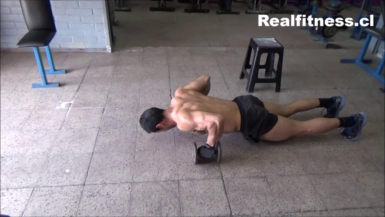 rutina de ejercicios con pesas para pecho
