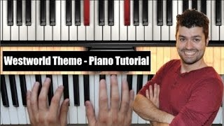 Westworld Main Theme (HBO) - Piano Tutorial - Easier Version