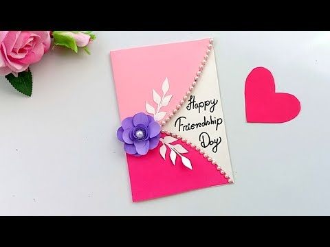 Friendship Day Card Idea | How To Make Friendship Day Card | Easy Greeting Card Friends