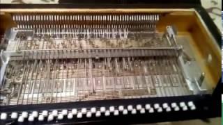 Ремонт левой механики баяна Рубин 7
