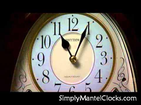 Joyful Crystal Bells Mantel Clock / Rhythm 4RJ636WD23