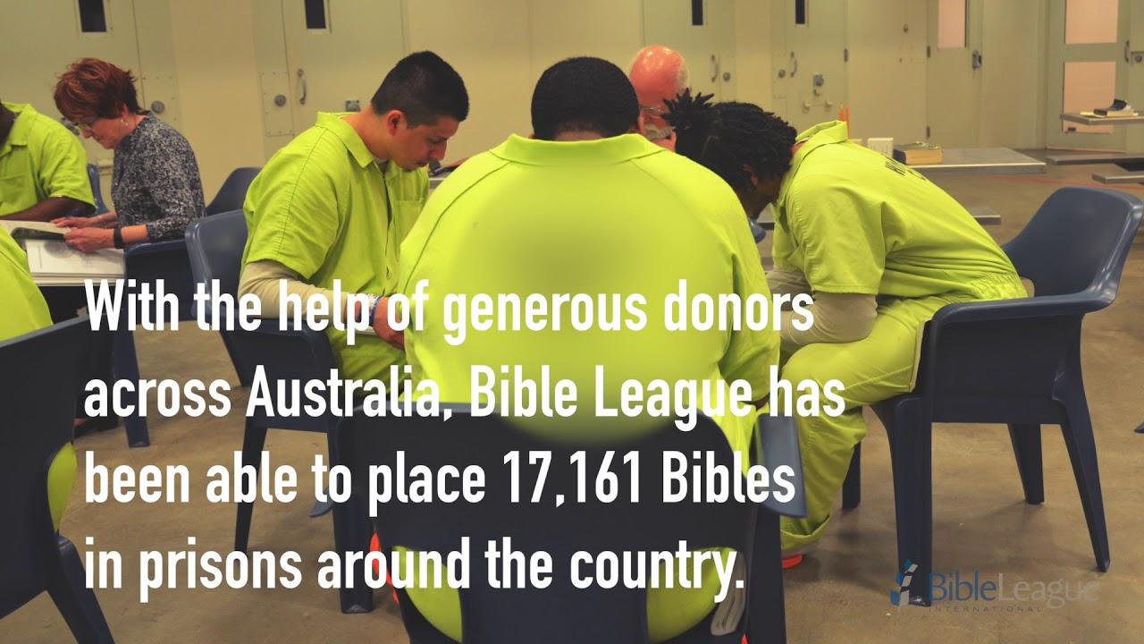 Bringing Hope Behind Bars - Bible League Australia