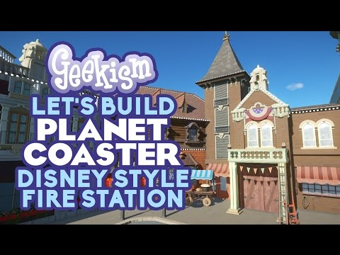 🔥 Disney Style Fire Station & Sweet Shop 🍬 | Let's Build Planet Coaster #13