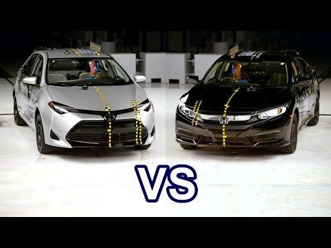 2017 Toyota Corolla Vs 2017 Honda Civic - Crash Test