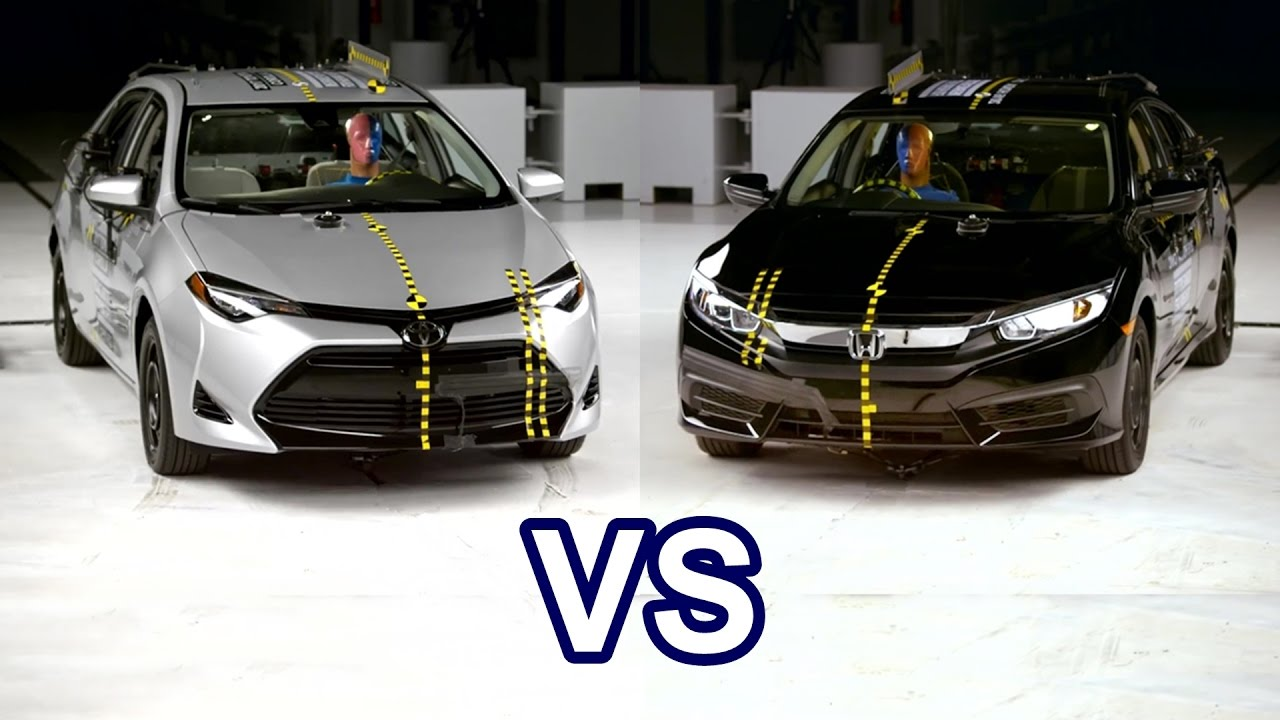 2017 toyota corolla vs 2017 honda civic crash test doovi