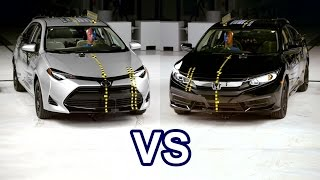 2017 Toyota Corolla Vs 2017 Honda Civic - Crash Test