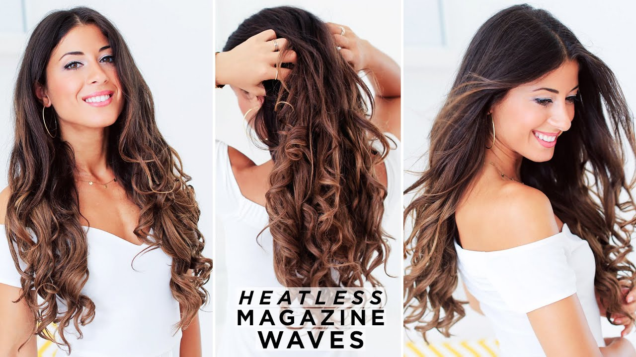 How To Heatless Waves Hair Tutorial Luxy Hair Youtube