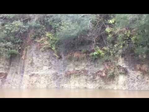 Kayaking Next to the Cliffs along the Savannah River