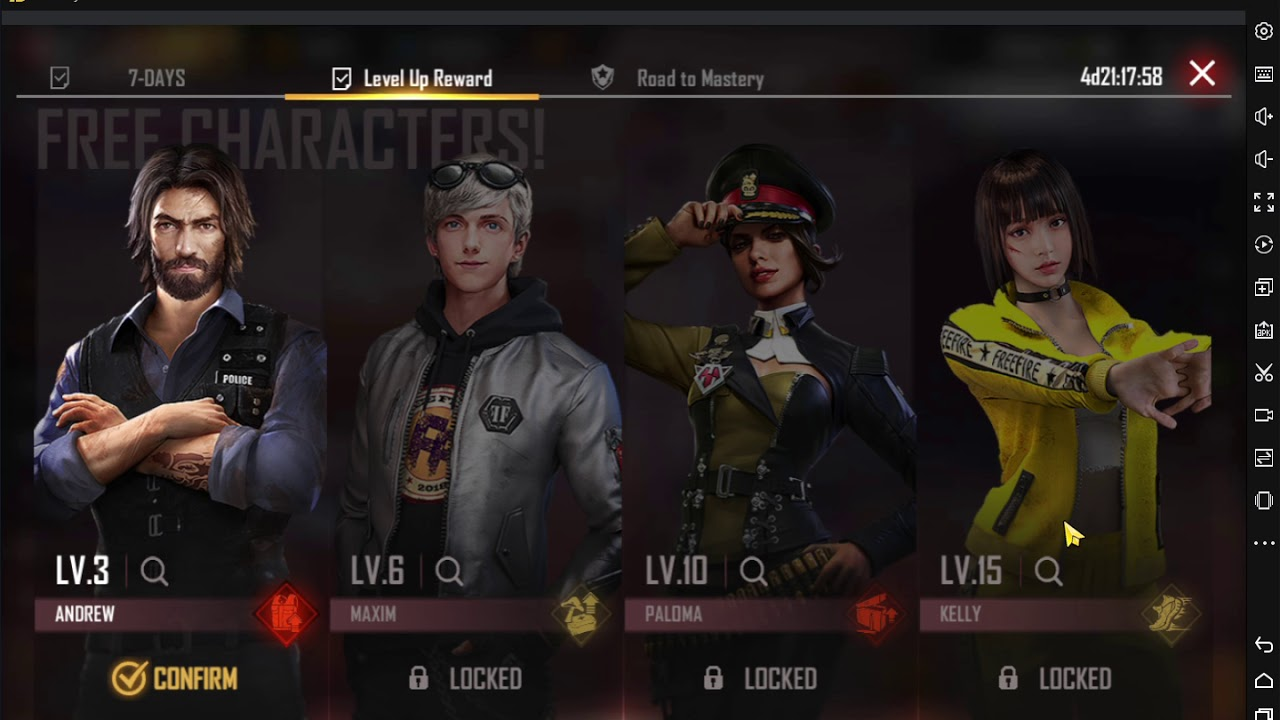 How To Get Level Up Rewards In Free Fire Youtube