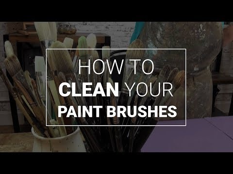 How to Clean Your Paint Brushes (Oils, Acrylics, Watercolour)