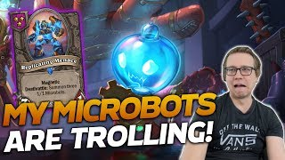 WHY AM I BEING TROLLED BY MY OWN MICROBOTS???   Hearthstone Battlegrounds   Savjz