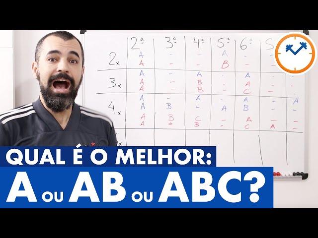 A MELHOR DIVISÃO DE TREINOS PARA VOCÊ (A, AB ou ABC)?  Saúde na Lousinha nº6