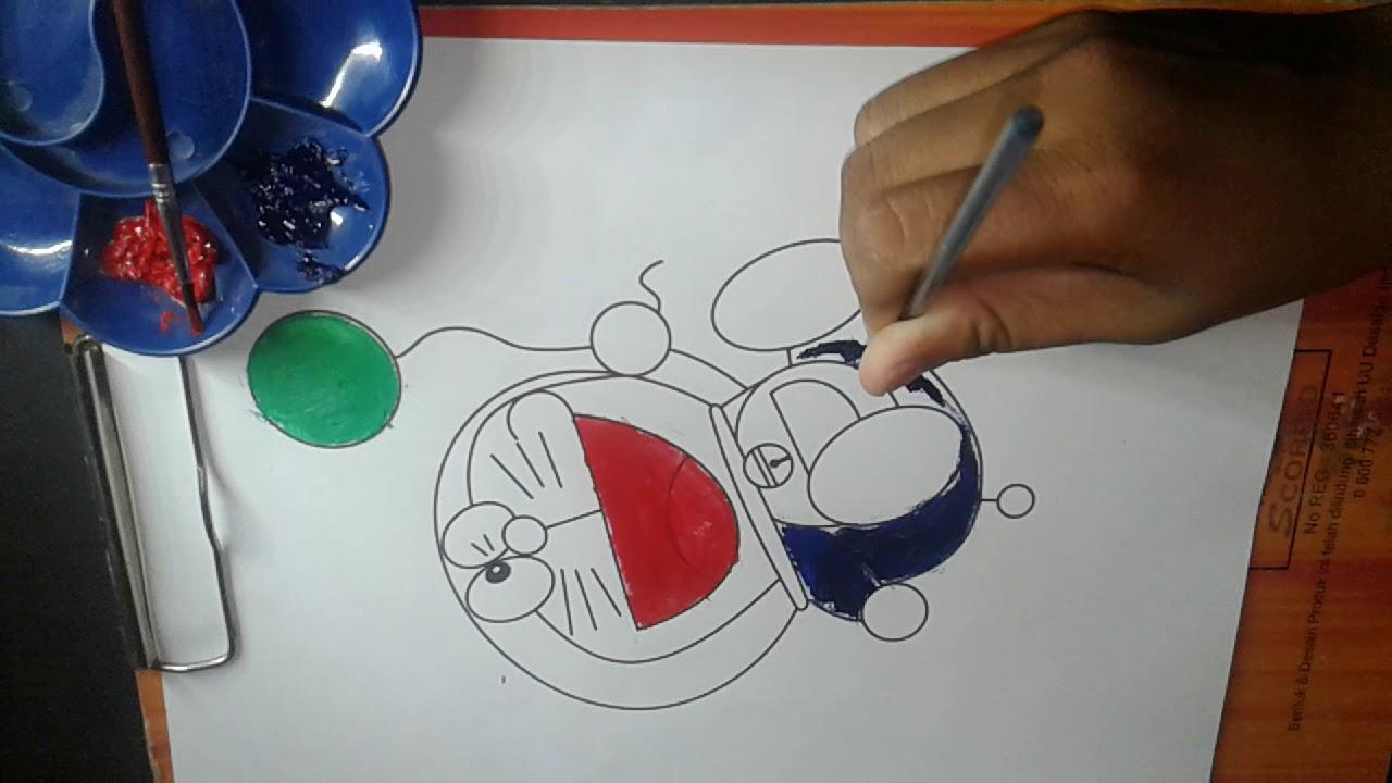 Lukisan Doraemon Youtube